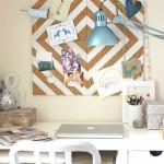 corkboard paperwork organizing