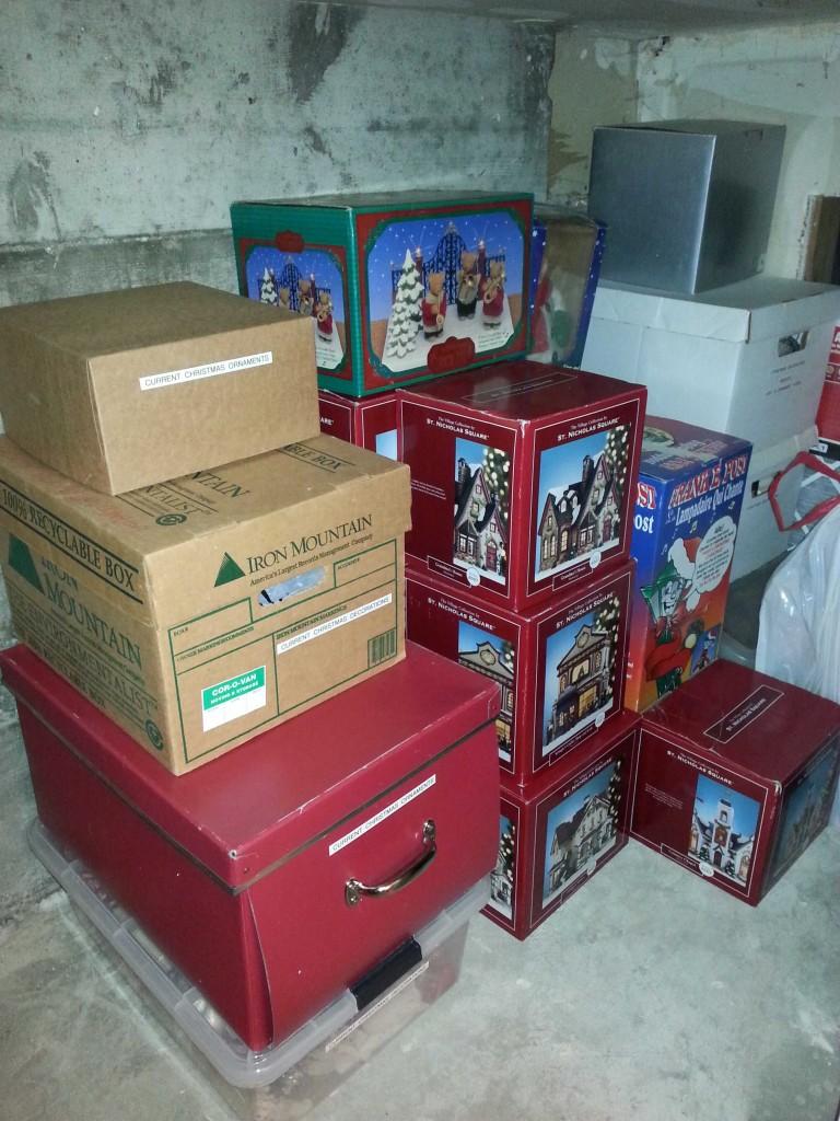 basement declutter- after 2