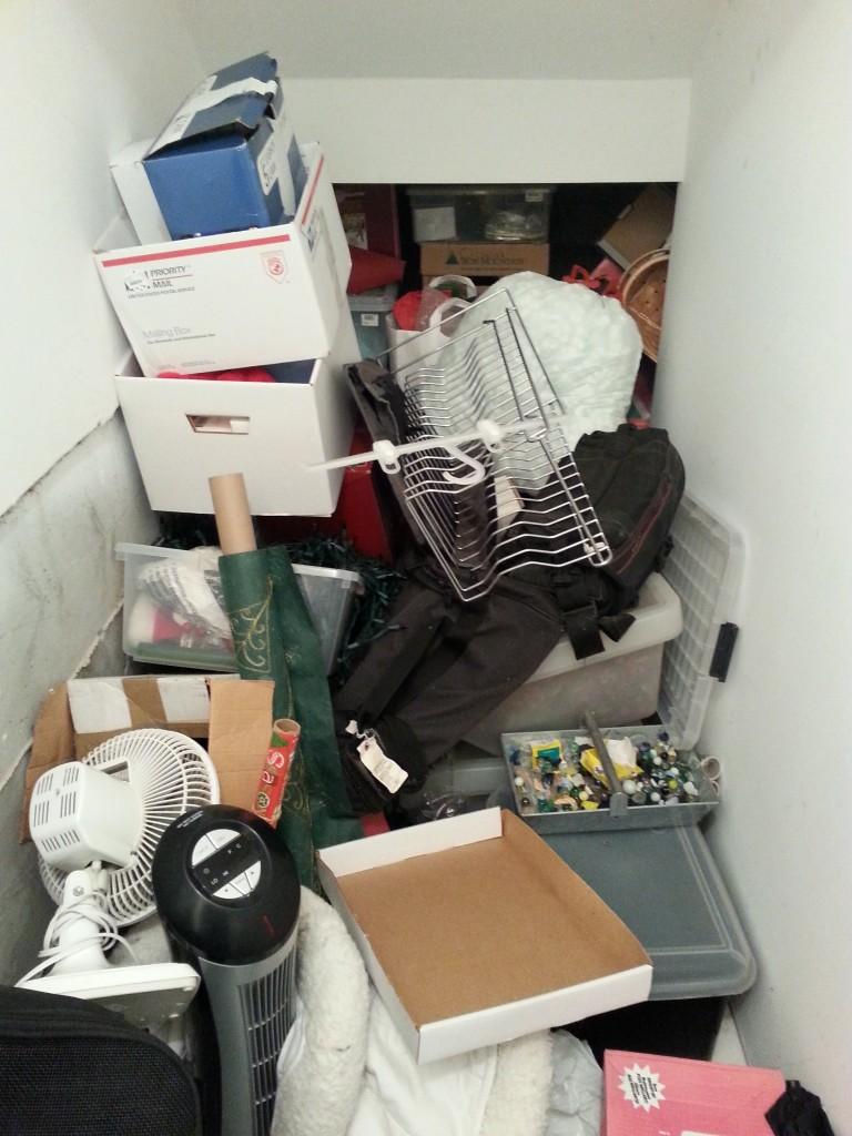 basement declutter - before 1